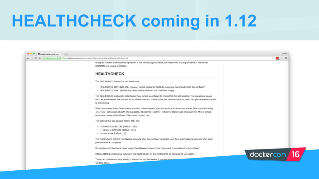 HEALTHCHECK coming in 1.12