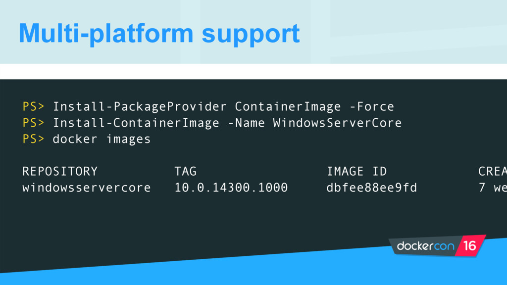 Multi-platform support PS> Install-PackageProvi...