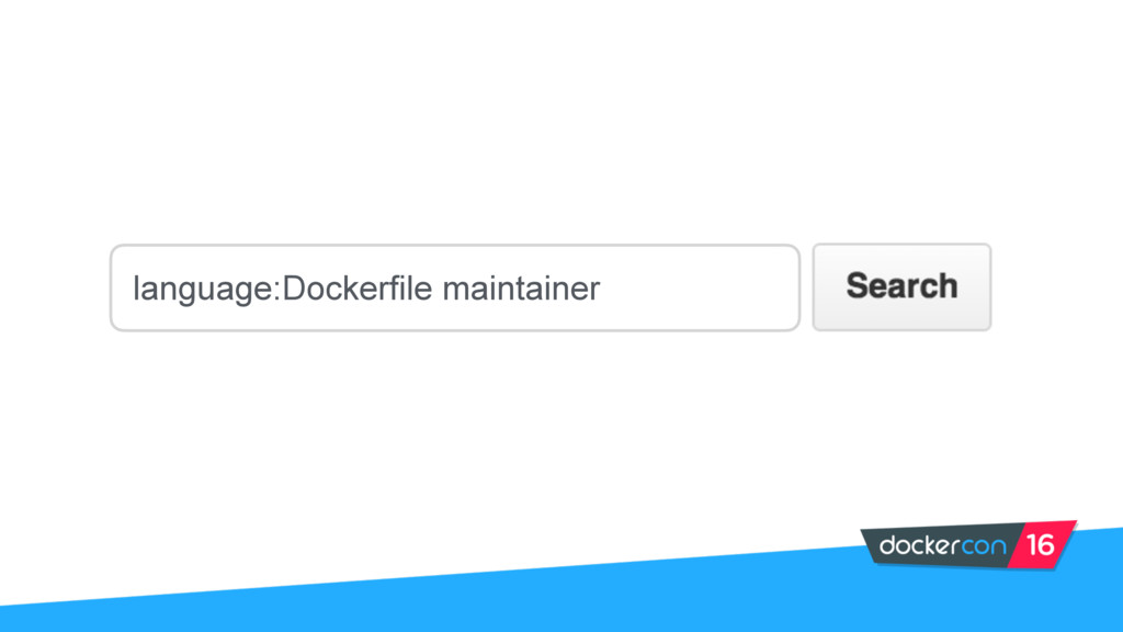 language:Dockerfile maintainer