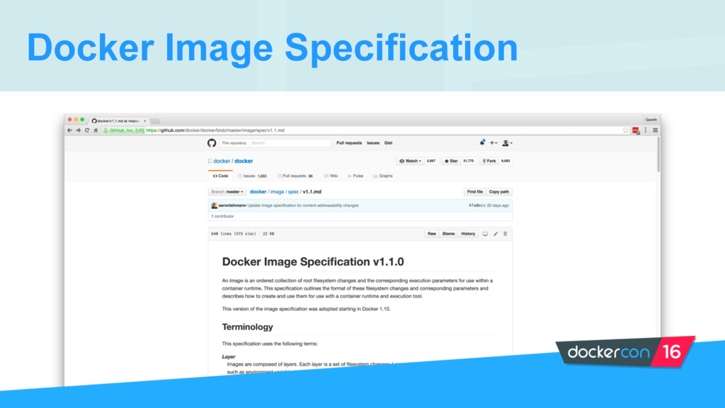 Docker Image Specification