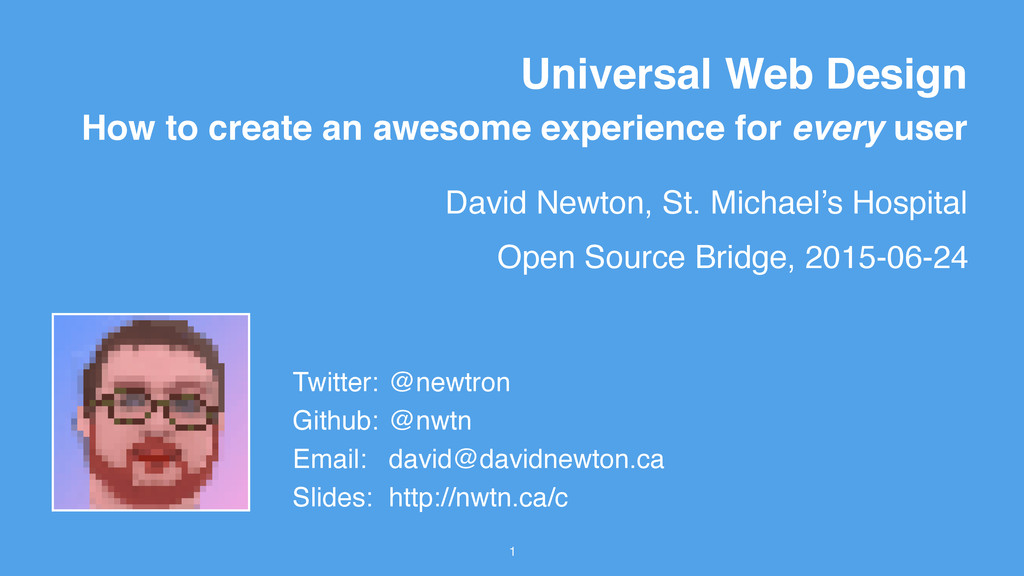 David Newton, St. Michael's Hospital 1 Universa...