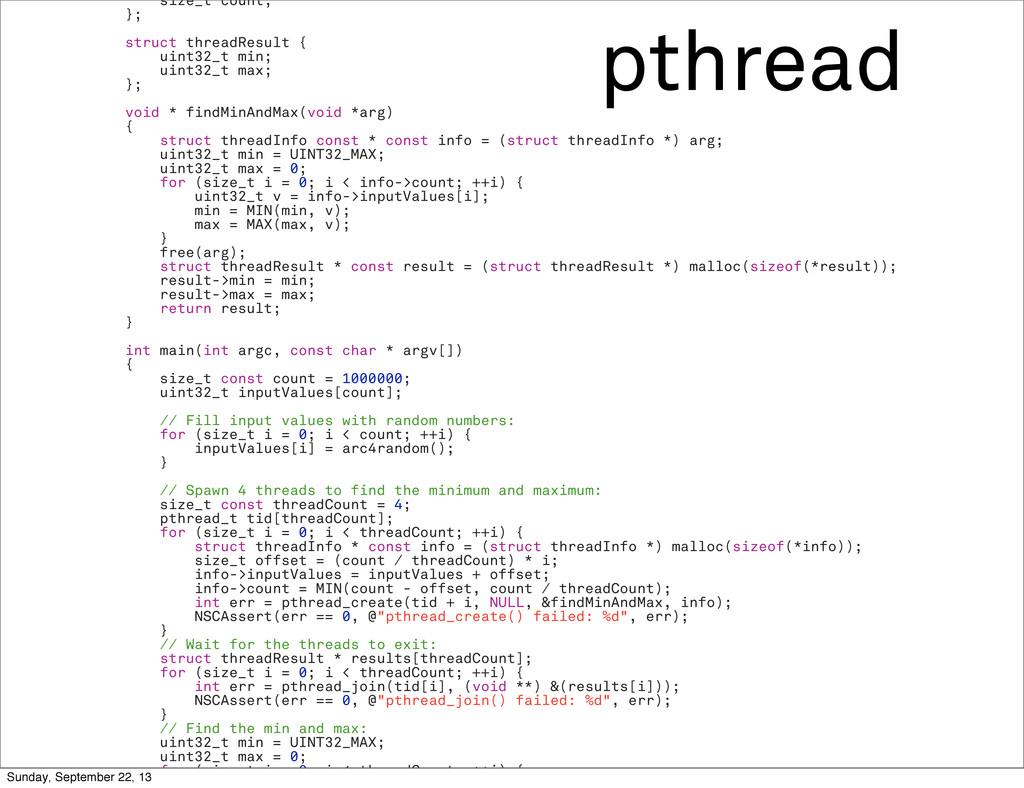 pthread size_t count; }; struct threadResult { ...