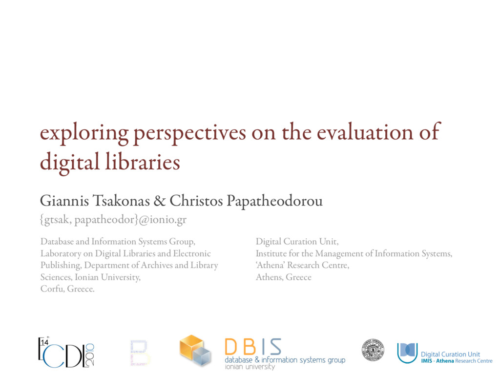 exploring perspectives on the evaluation of dig...