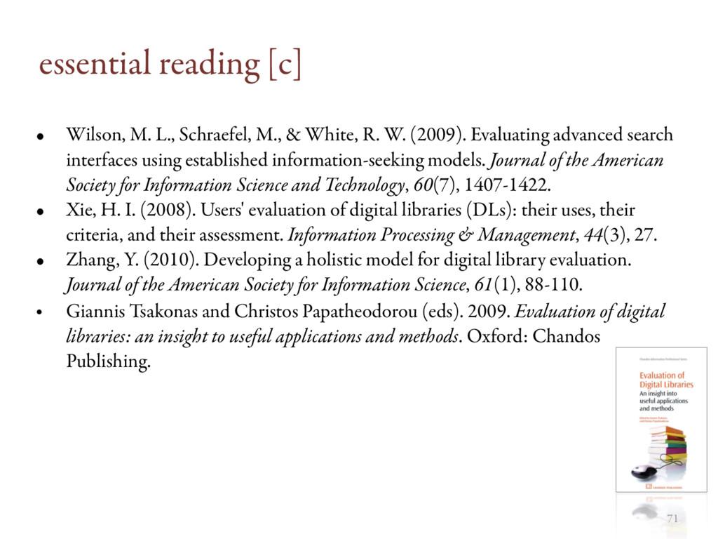 essential reading [c] • Wilson, M. L., Schraefe...