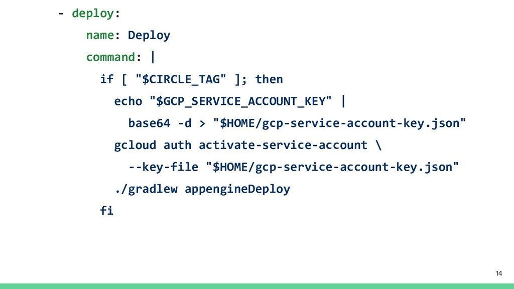 "- deploy: name: Deploy command: | if [ ""$CIRCLE..."