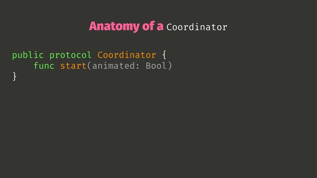 Anatomy of a Coordinator public protocol Coordi...