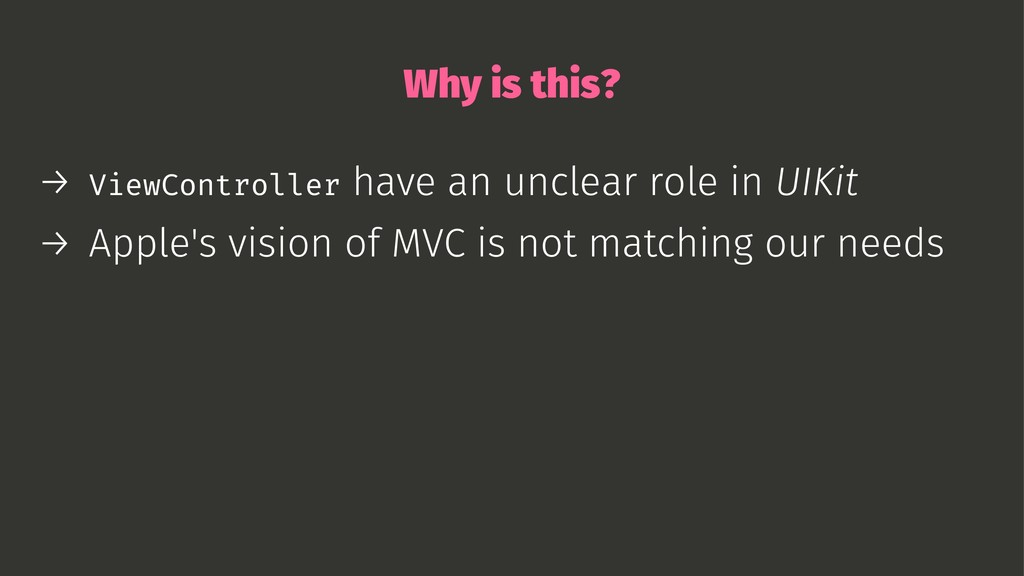 Why is this? → ViewController have an unclear r...