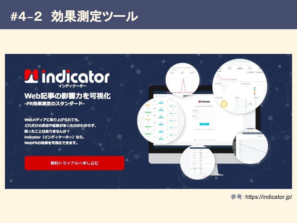 #4−2 効果測定ツール 参考:https://indicator.jp/