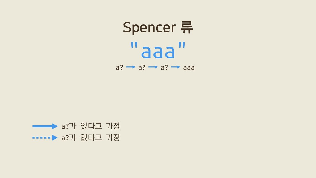 "Spencer 류 ""aaa"" a? a? a? aaa a?가 있다고 가정 a?가 없다고..."