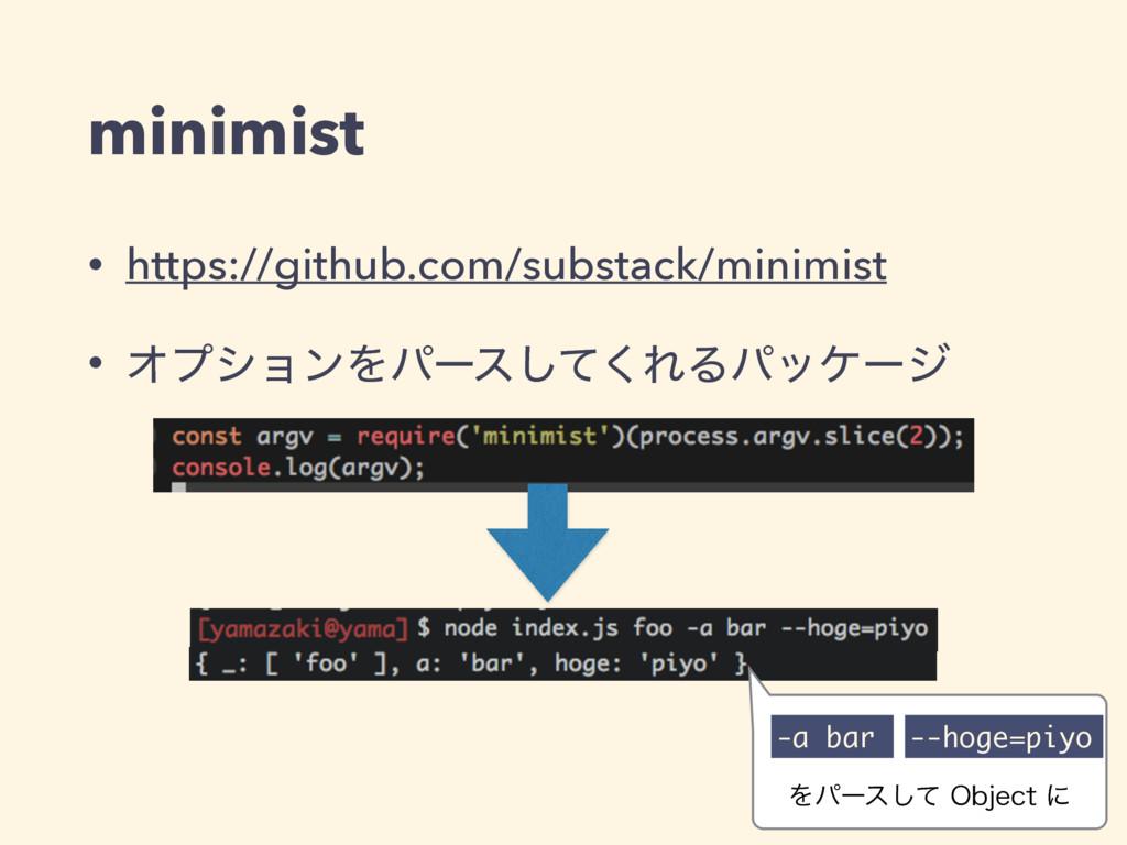 minimist • https://github.com/substack/minimist...
