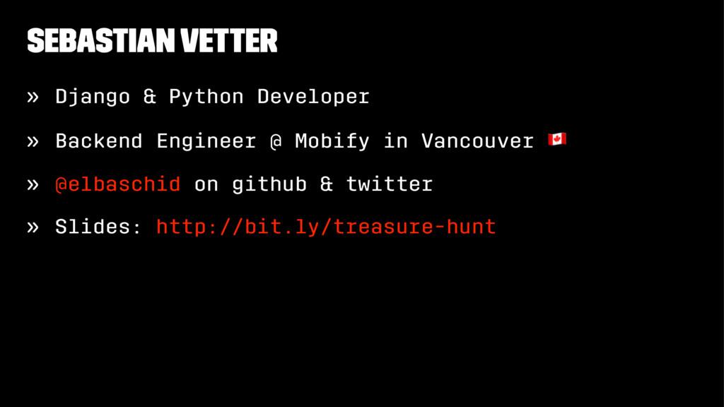 Sebastian Vetter » Django & Python Developer » ...