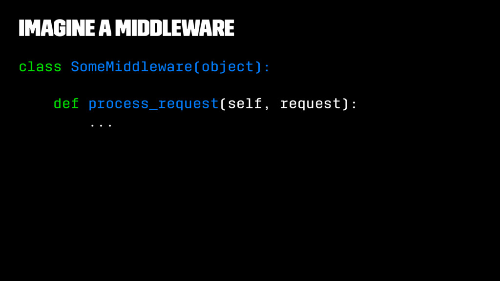 Imagine A Middleware class SomeMiddleware(objec...