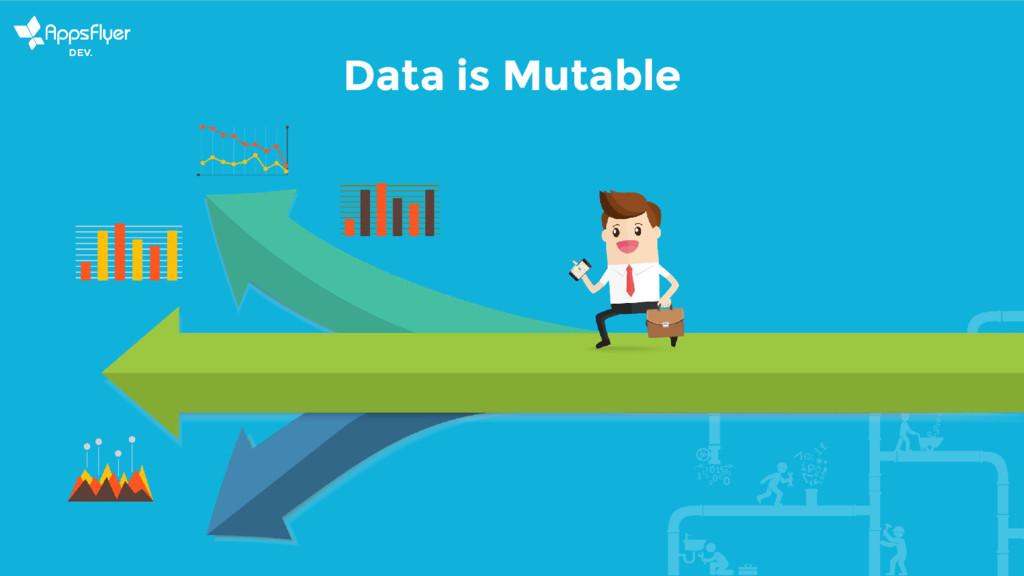Data is Mutable