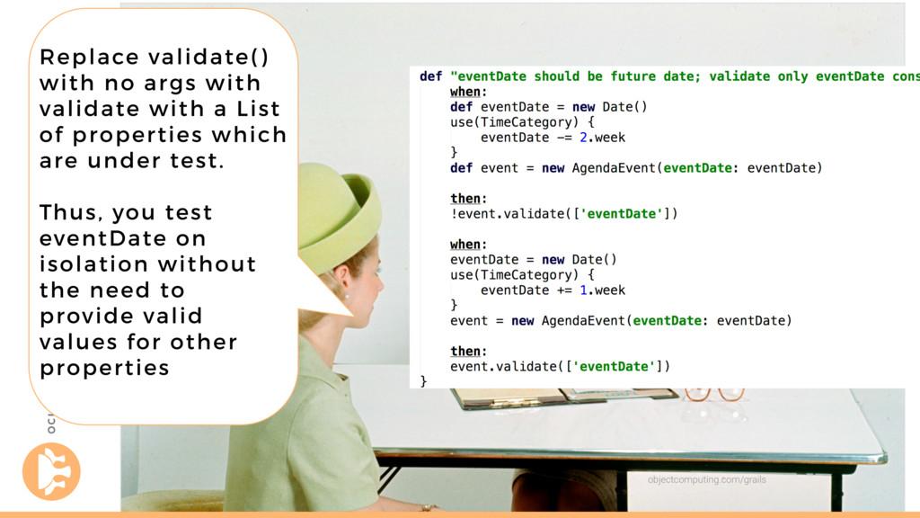 objectcomputing.com/grails Replace validate() w...