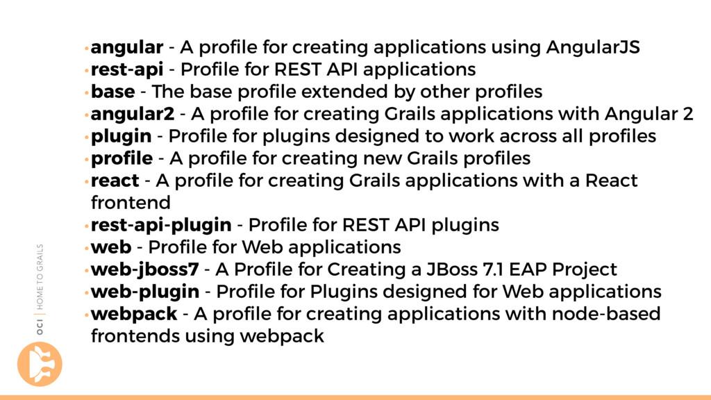 •angular - A profile for creating applications u...