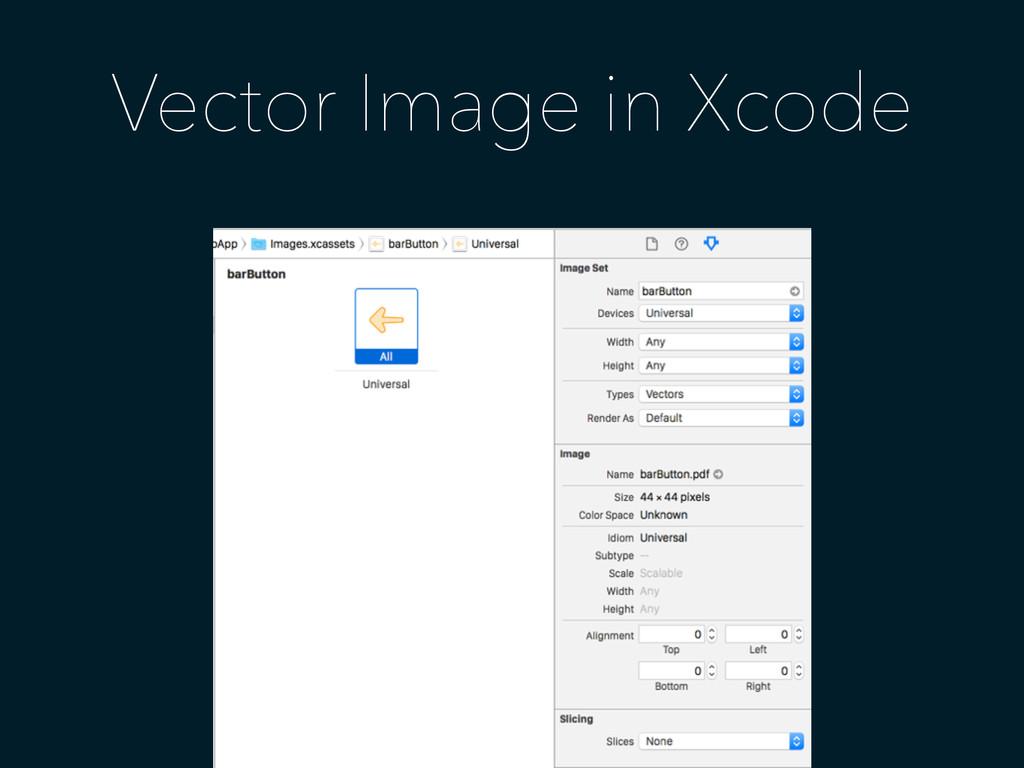Vector Image in Xcode