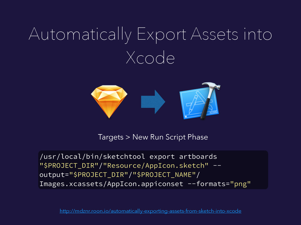 Automatically Export Assets into Xcode /usr/loc...