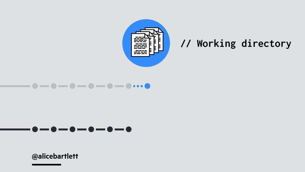 @alicebartlett // Working directory