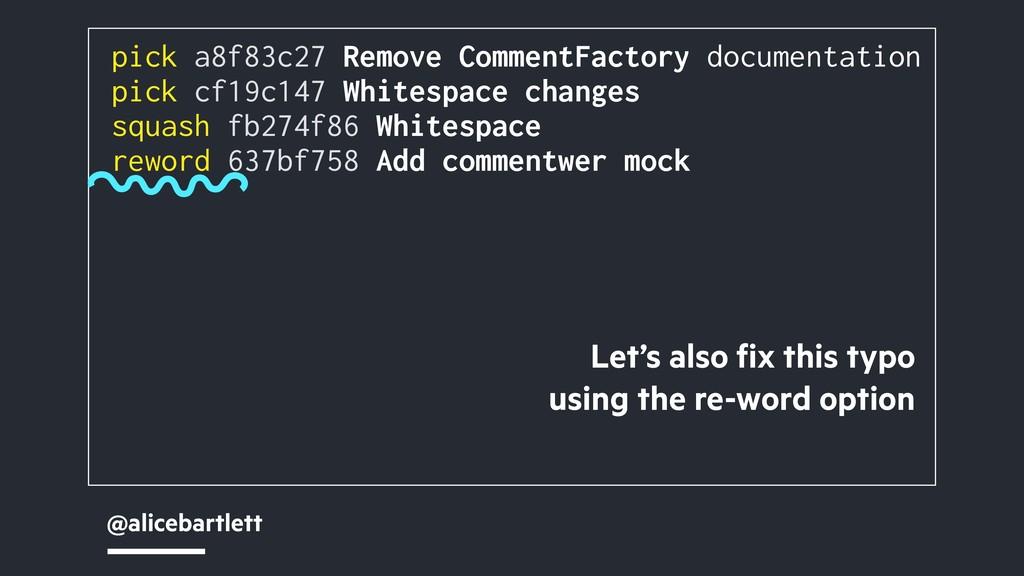 @alicebartlett pick a8f83c27 Remove CommentFact...