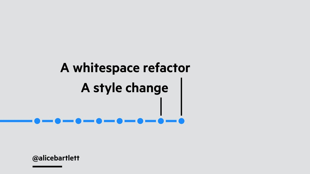 @alicebartlett A whitespace refactor A style ch...
