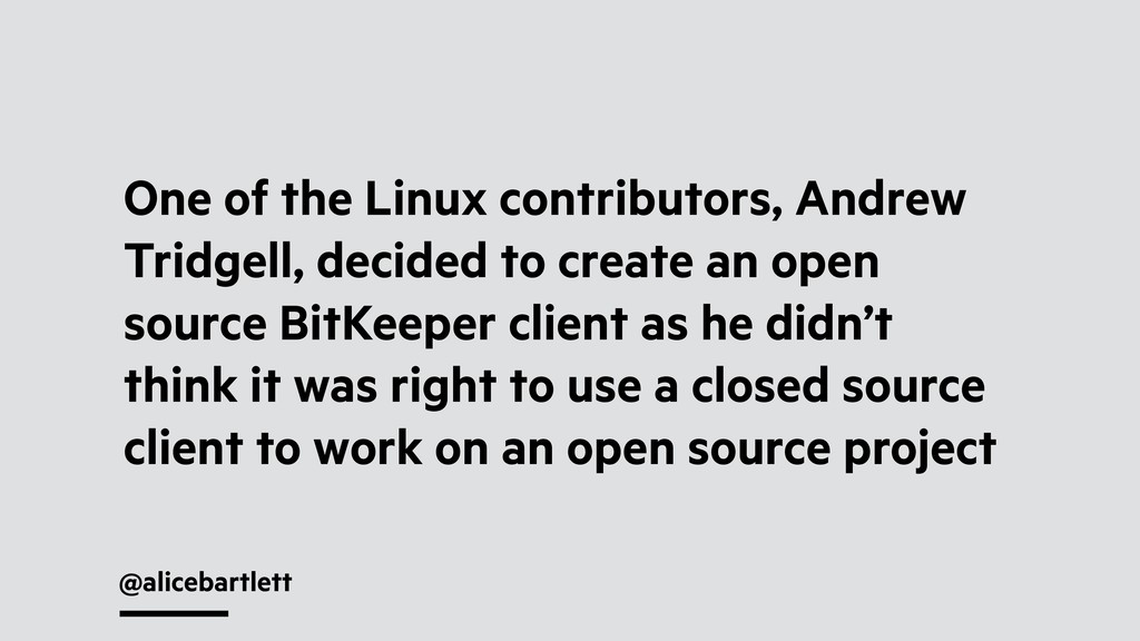 @alicebartlett One of the Linux contributors, A...