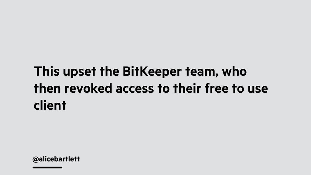 @alicebartlett This upset the BitKeeper team, w...