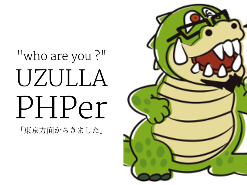 """""""who are you ?"""" UZULLA PHPer ʮ౦ژํ໘͔Β͖·ͨ͠ʯ"""