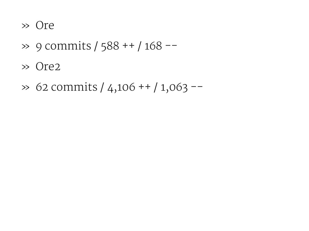 » Ore » 9 commits / 588 ++ / 168 -- » Ore2 » 62...