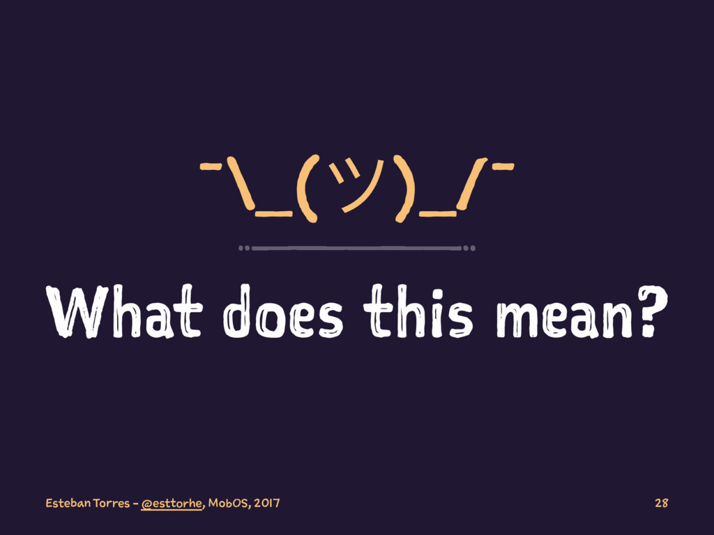 ¯\_(ϑ)_/¯ What does this mean? Esteban Torres -...