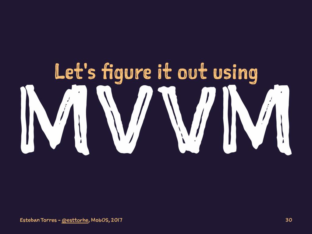 Let's figure it out using MVVM Esteban Torres -...