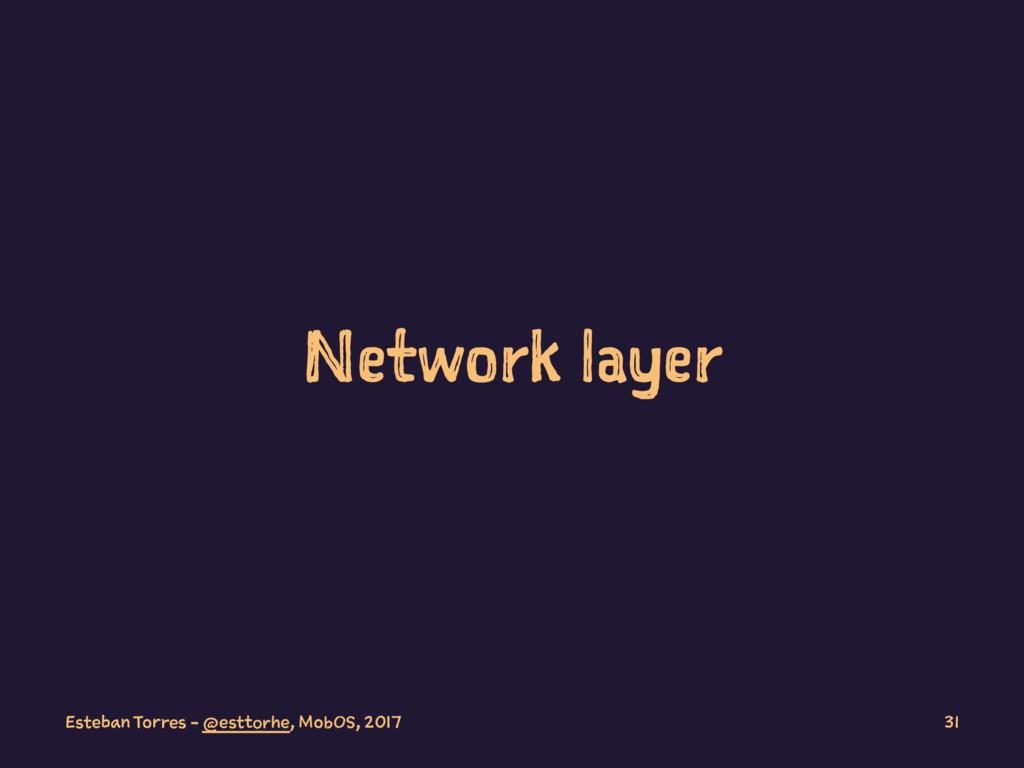 Network layer Esteban Torres - @esttorhe, MobOS...