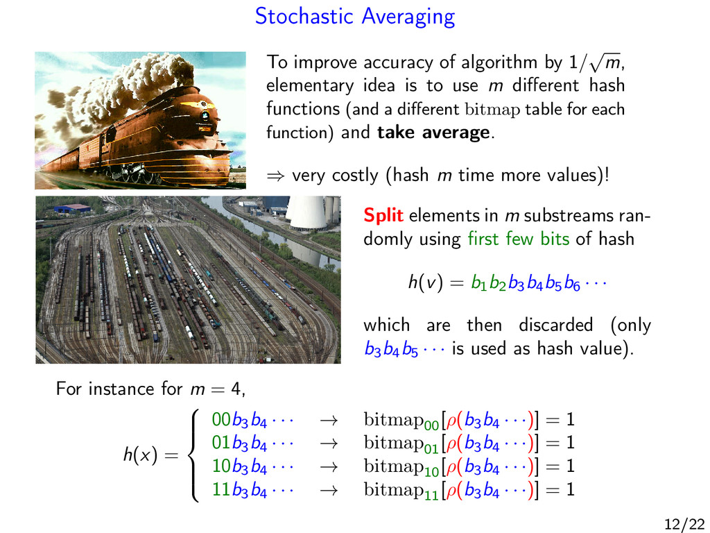 Stochastic Averaging To improve accuracy of alg...
