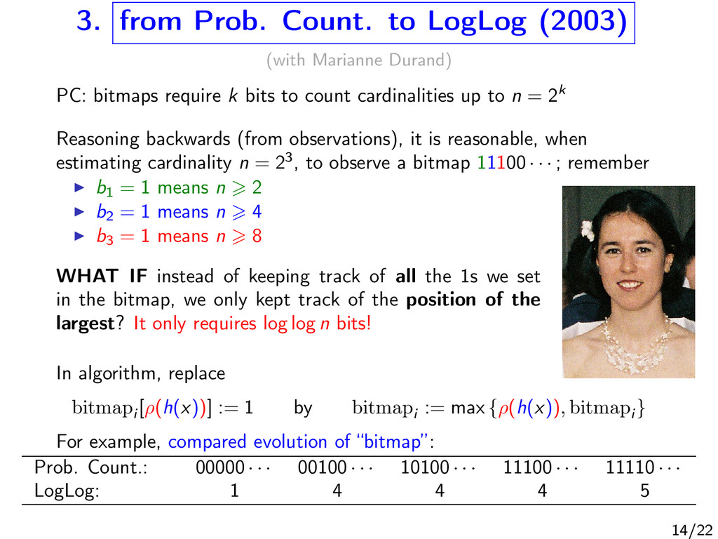 3. from Prob. Count. to LogLog (2003) (with Mar...