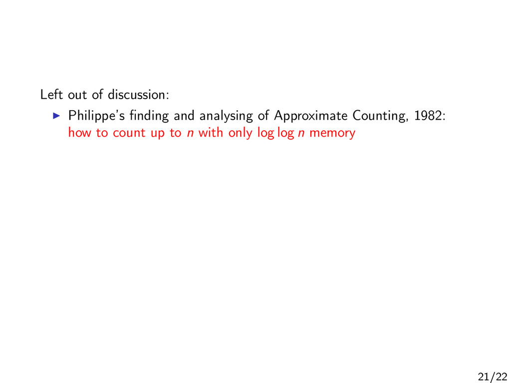 Left out of discussion: Philippe's finding and a...