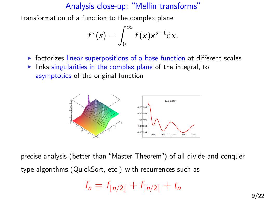 "Analysis close-up: ""Mellin transforms"" transfor..."
