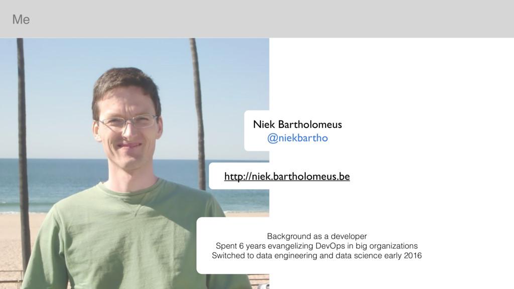 Me Niek Bartholomeus @niekbartho Background as ...