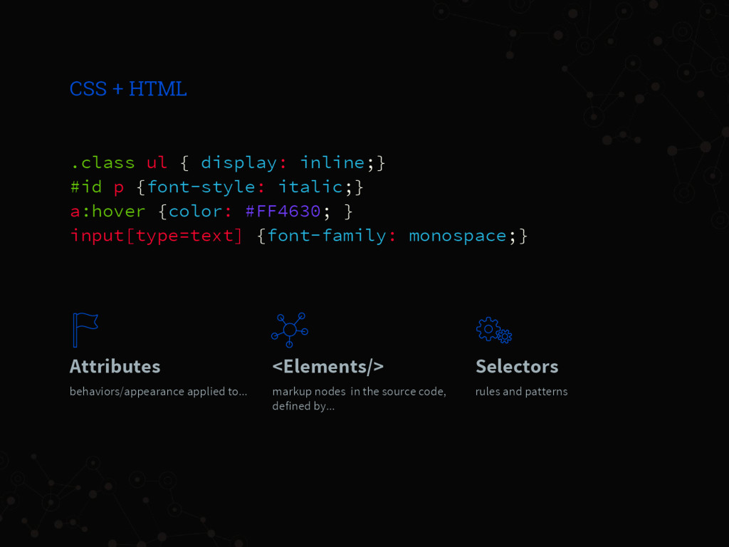 .class ul { display: inline;} #id p {font-style...