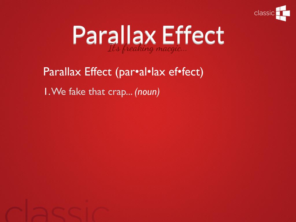 Parallax Effect It's freaking macgic... Paralla...
