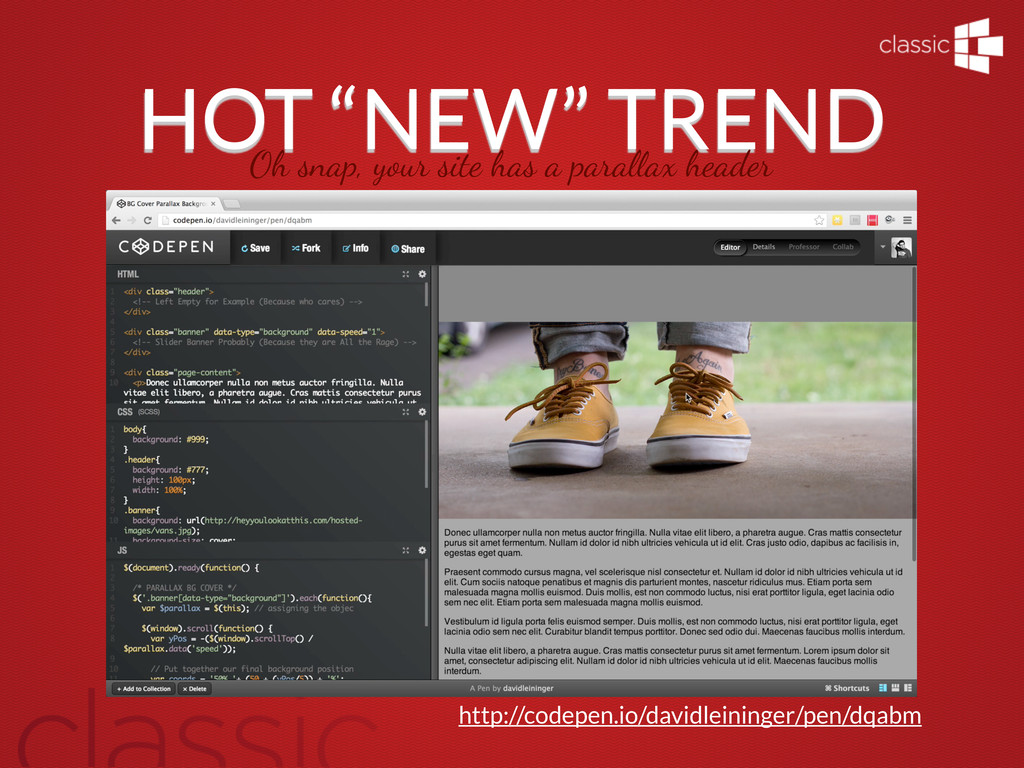 """HOT """"NEW"""" TREND Oh snap, your site has a para!a..."""