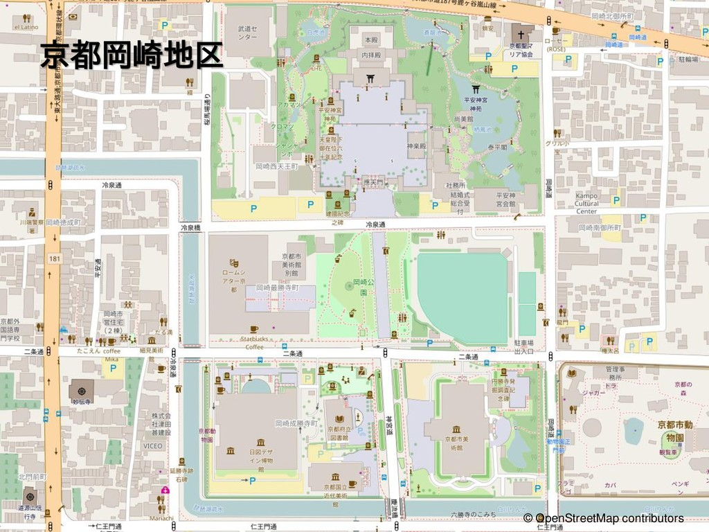 京都岡崎地区 P.7 © OpenStreetMap contributors