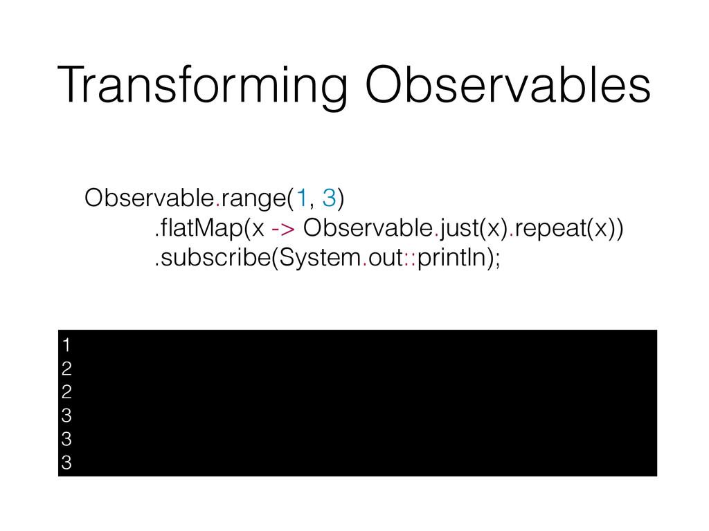 Transforming Observables 1 2 2 3 3 3 Observable...
