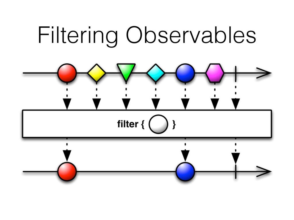 Filtering Observables