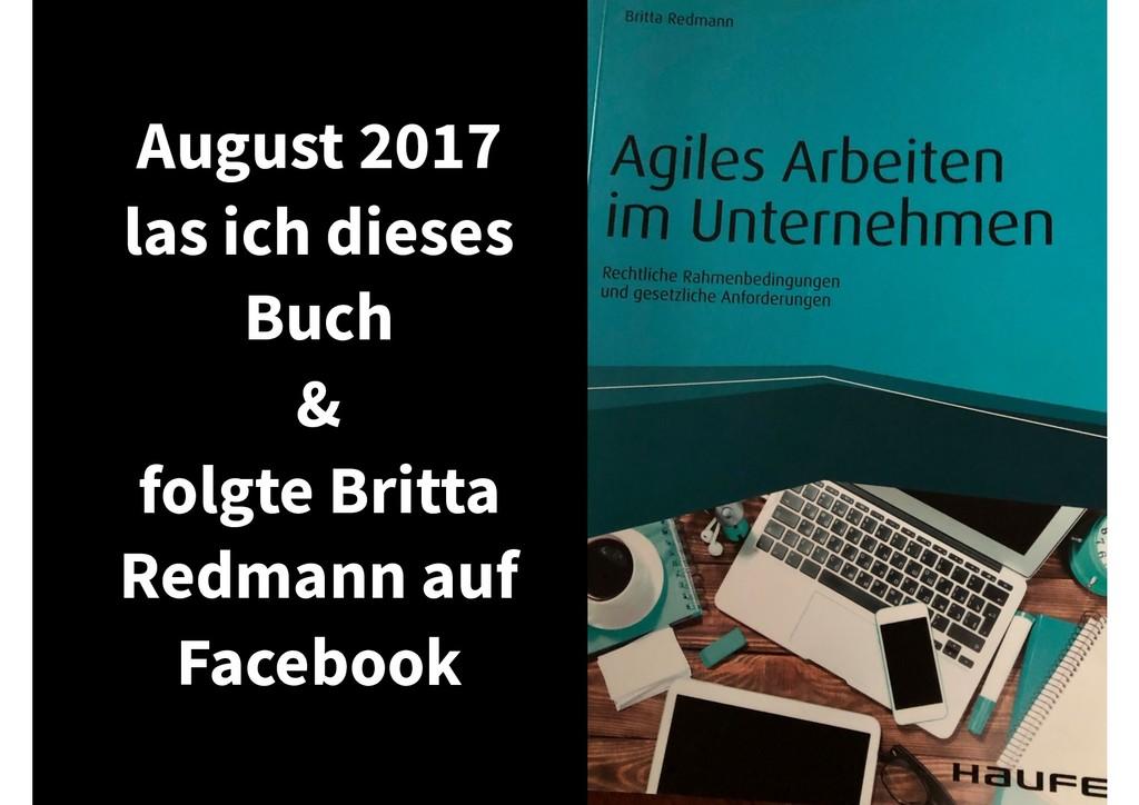 August 2017 las ich dieses Buch & folgte Britta...
