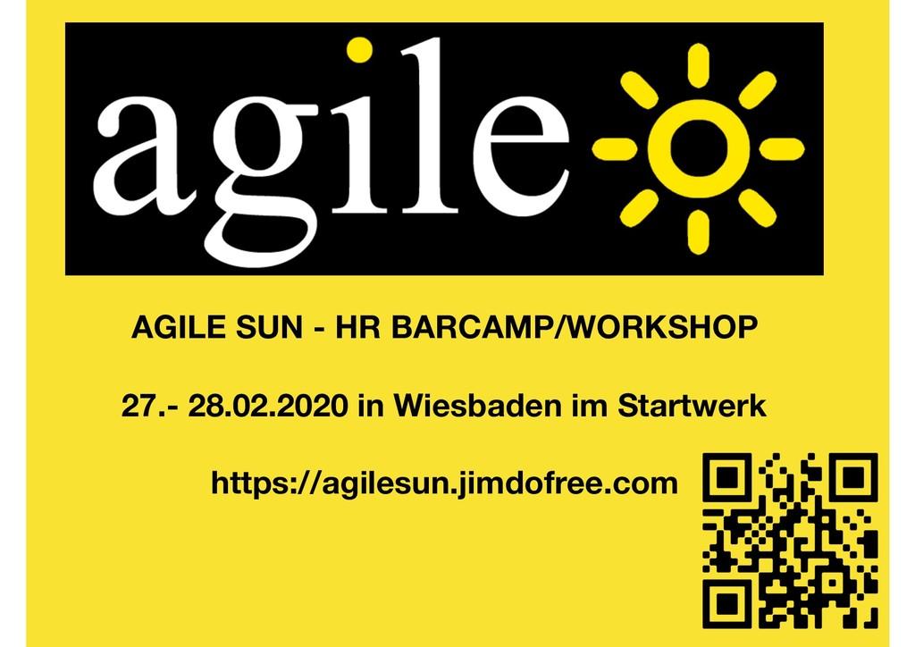 AGILE SUN - HR BARCAMP/WORKSHOP 27.- 28.02.2020...