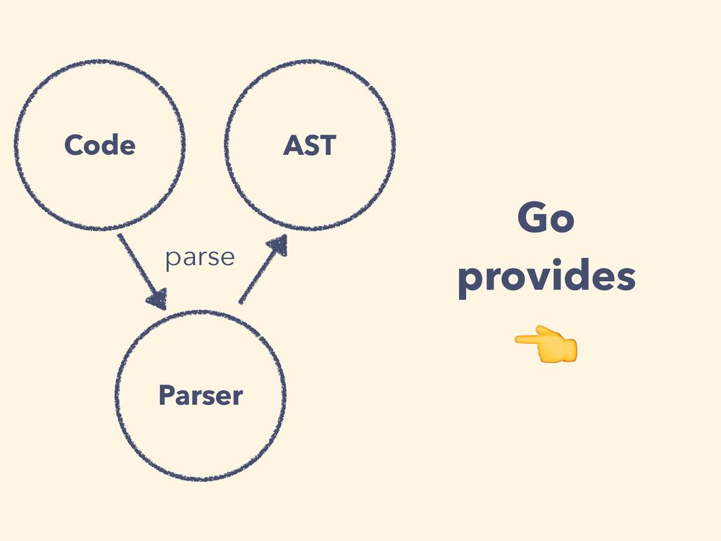 parse Parser AST Code Go provides
