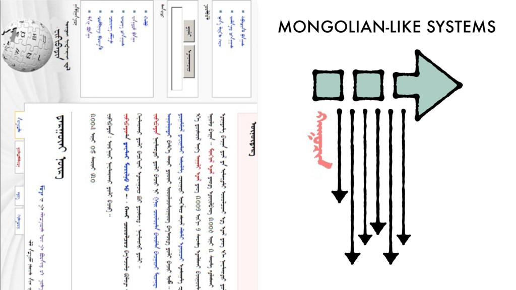 MONGOLIAN-LIKE SYSTEMS
