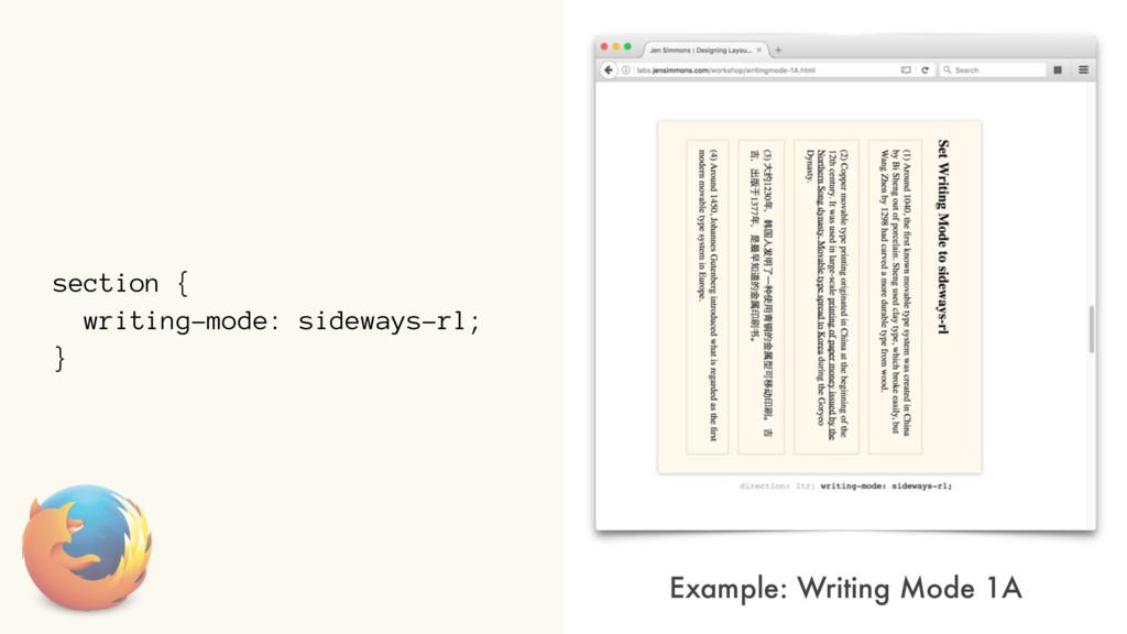 section { writing-mode: sideways-rl; } Example:...