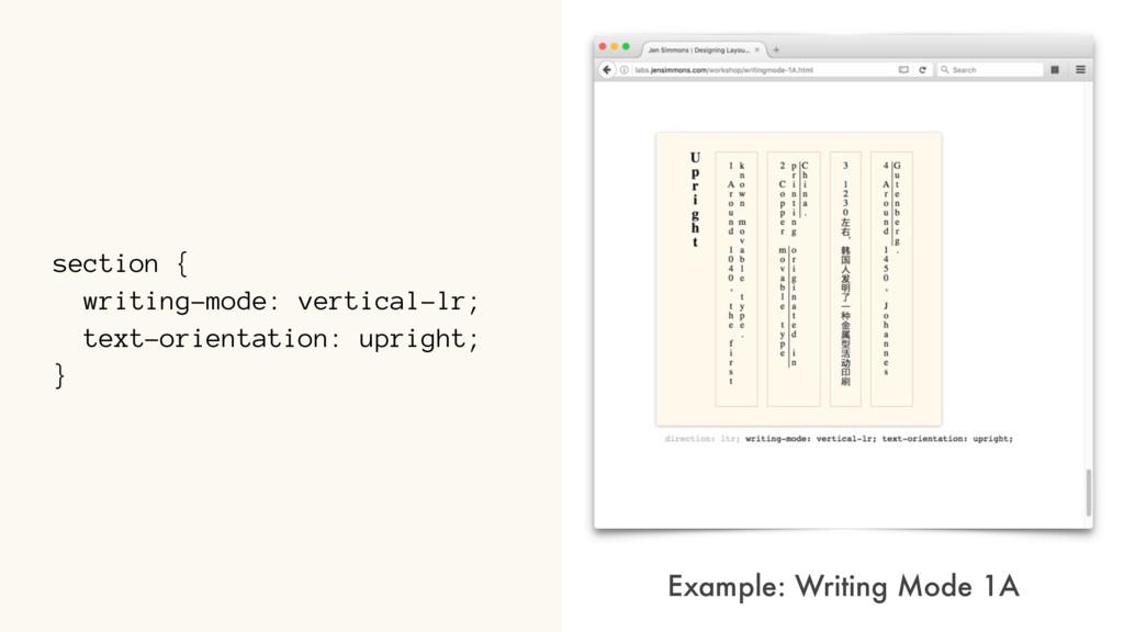 section { writing-mode: vertical-lr; text-orien...