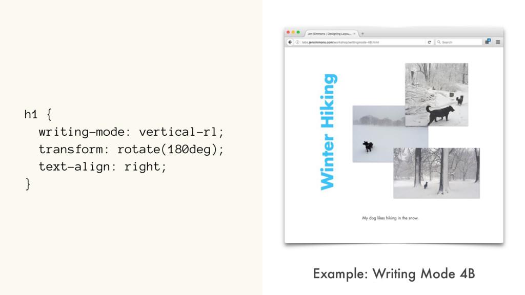 h1 { writing-mode: vertical-rl; transform: rota...