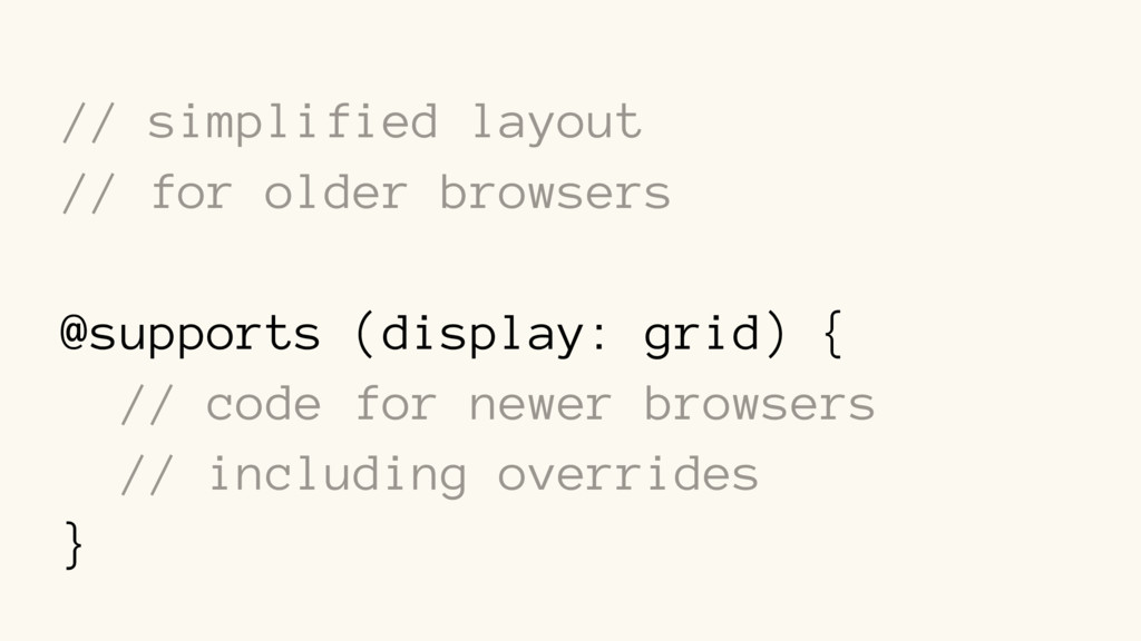 // simplified layout // for older browsers @sup...
